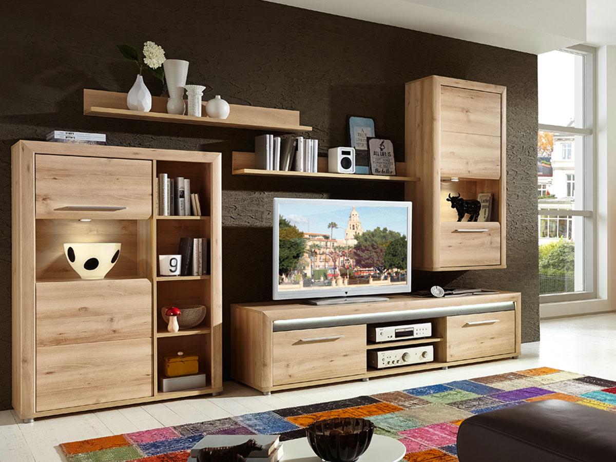 wohnwand modern buche interessante ideen. Black Bedroom Furniture Sets. Home Design Ideas