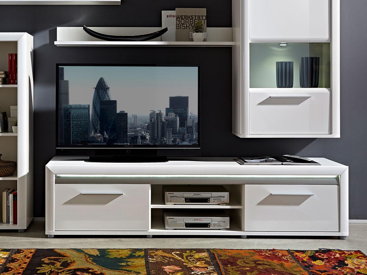 rio tv unterteil 200 cm weiss alu. Black Bedroom Furniture Sets. Home Design Ideas