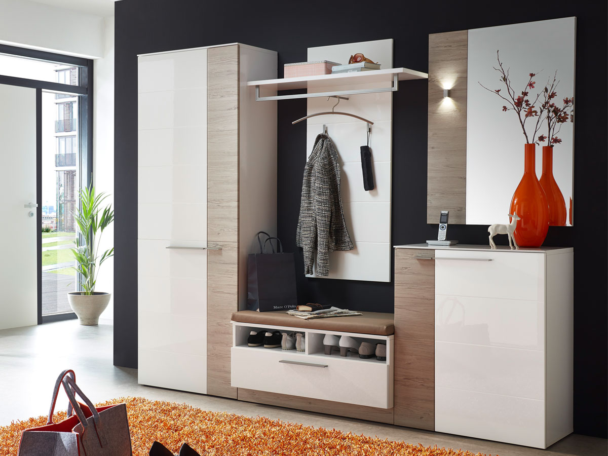 dublin i garderobenset wei taupe. Black Bedroom Furniture Sets. Home Design Ideas