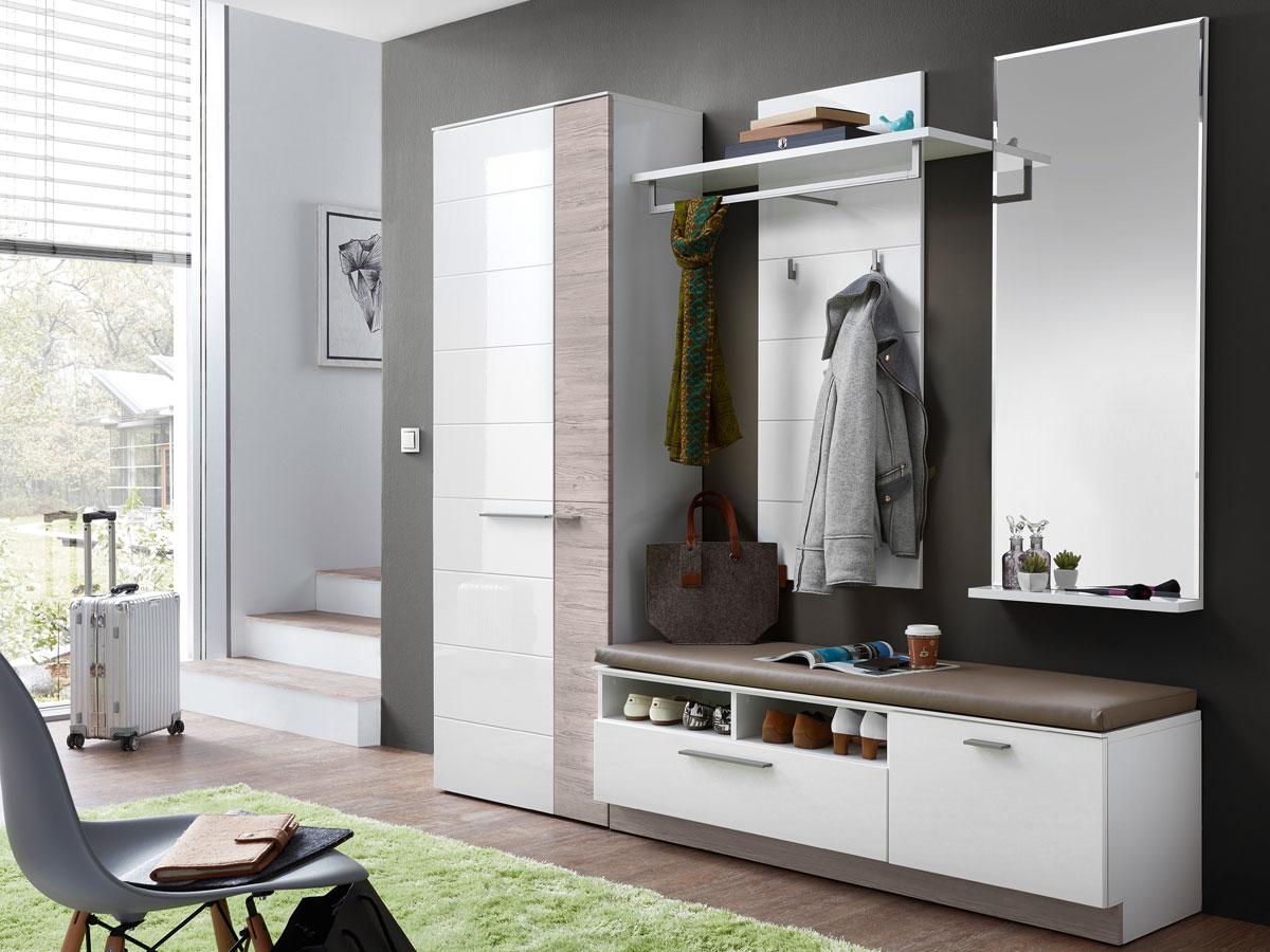 dublin ii garderobenset wei taupe. Black Bedroom Furniture Sets. Home Design Ideas