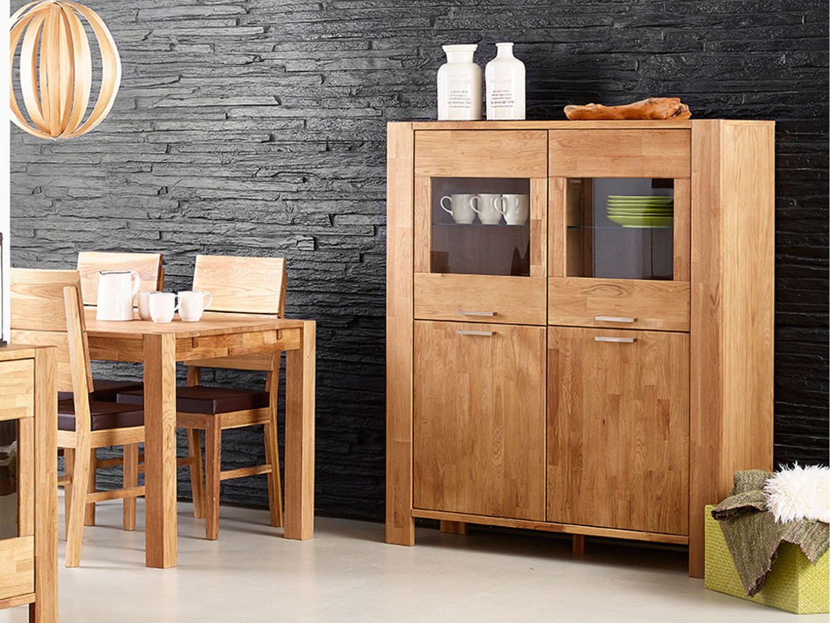 rusty highboard mit 2 2 t ren eiche ge lt. Black Bedroom Furniture Sets. Home Design Ideas