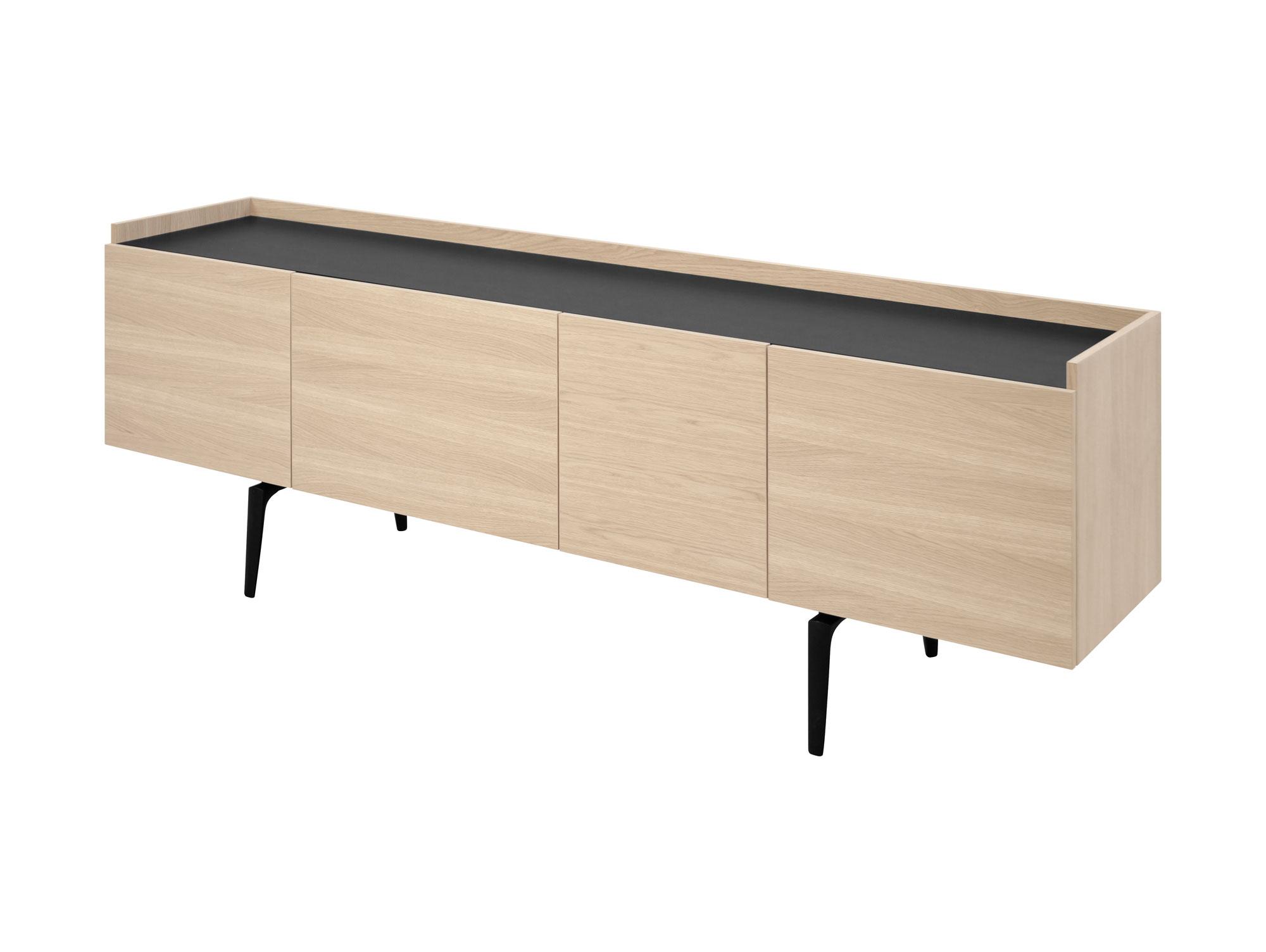 cannes sideboard eiche furniert beine schwa. Black Bedroom Furniture Sets. Home Design Ideas