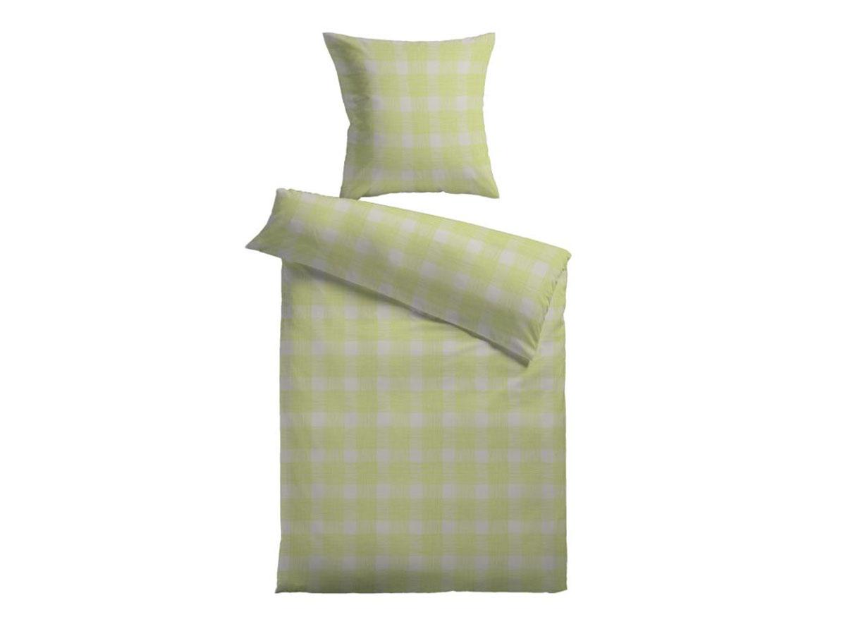 mikrofaser bettw sche 135x200 80x80 cm britta gr n. Black Bedroom Furniture Sets. Home Design Ideas