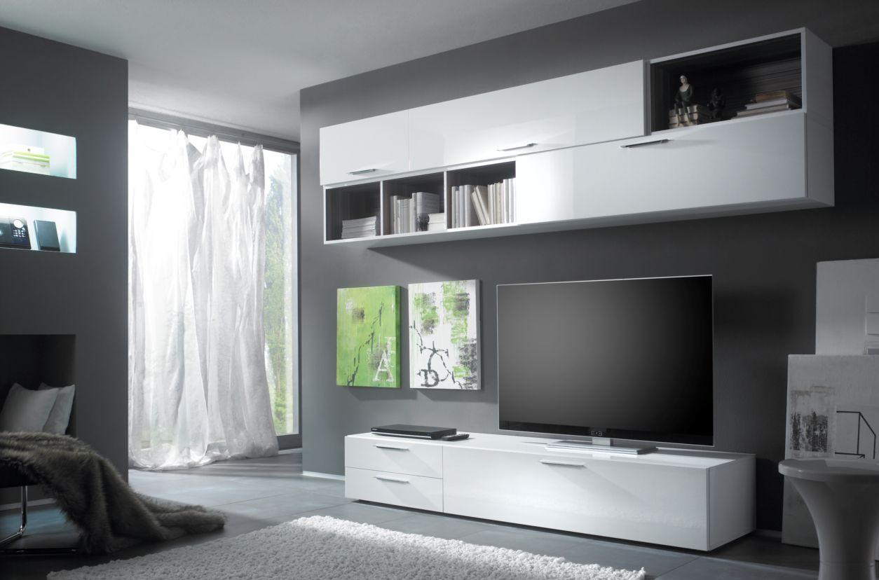cariba kombi wohnwand anbauwand wei g nstig kaufen. Black Bedroom Furniture Sets. Home Design Ideas