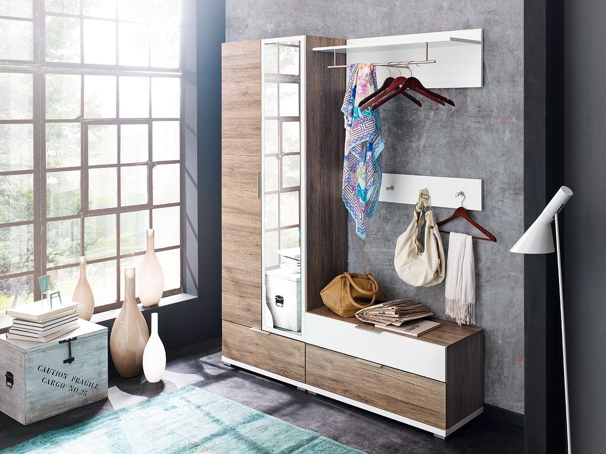 garderobe mit sitzbank weiss g nstig kaufen. Black Bedroom Furniture Sets. Home Design Ideas