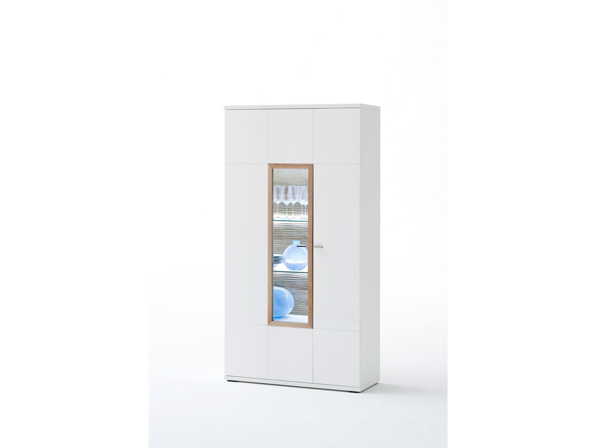 pancras ii kombi vitrine wei eiche riviera. Black Bedroom Furniture Sets. Home Design Ideas