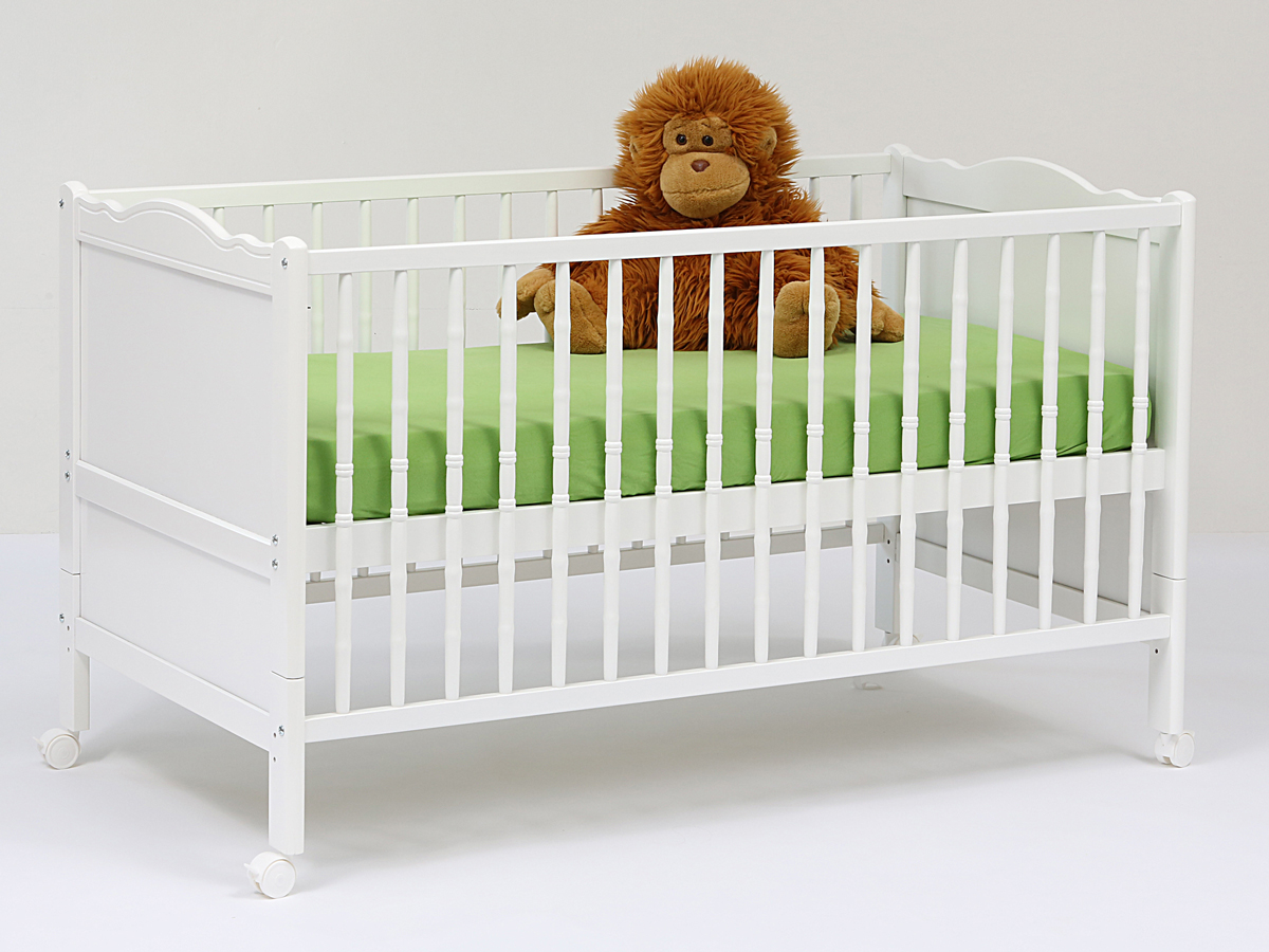 ANNE Babybett weiß 140x70 cm