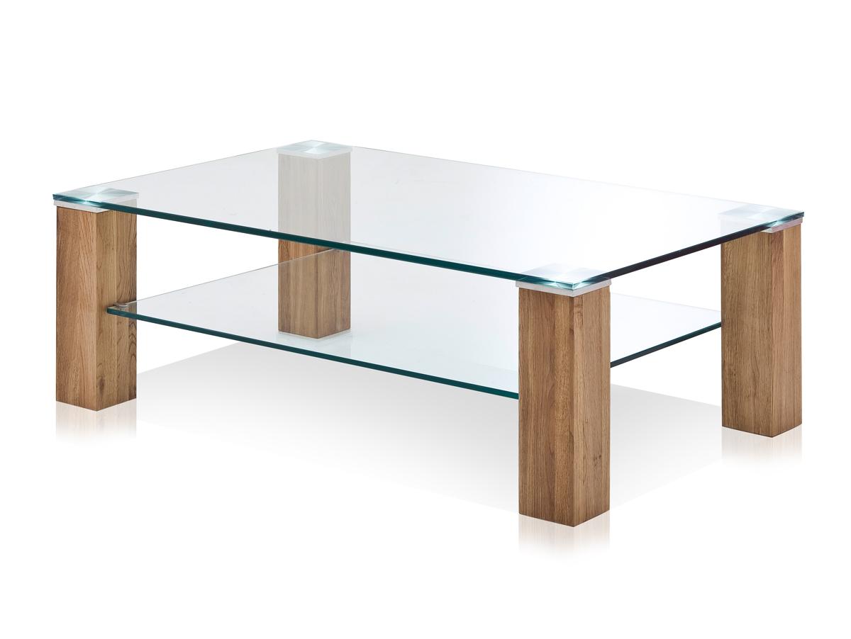 anne couchtisch klarglas asteiche massiv 110 x 70 cm. Black Bedroom Furniture Sets. Home Design Ideas