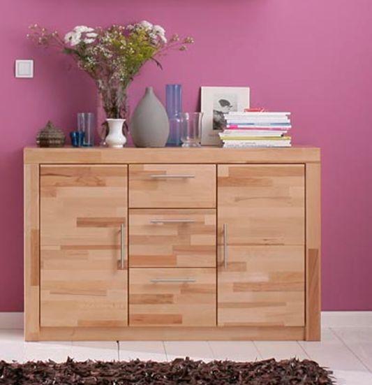 simea anrichte sideboard kernbuche. Black Bedroom Furniture Sets. Home Design Ideas