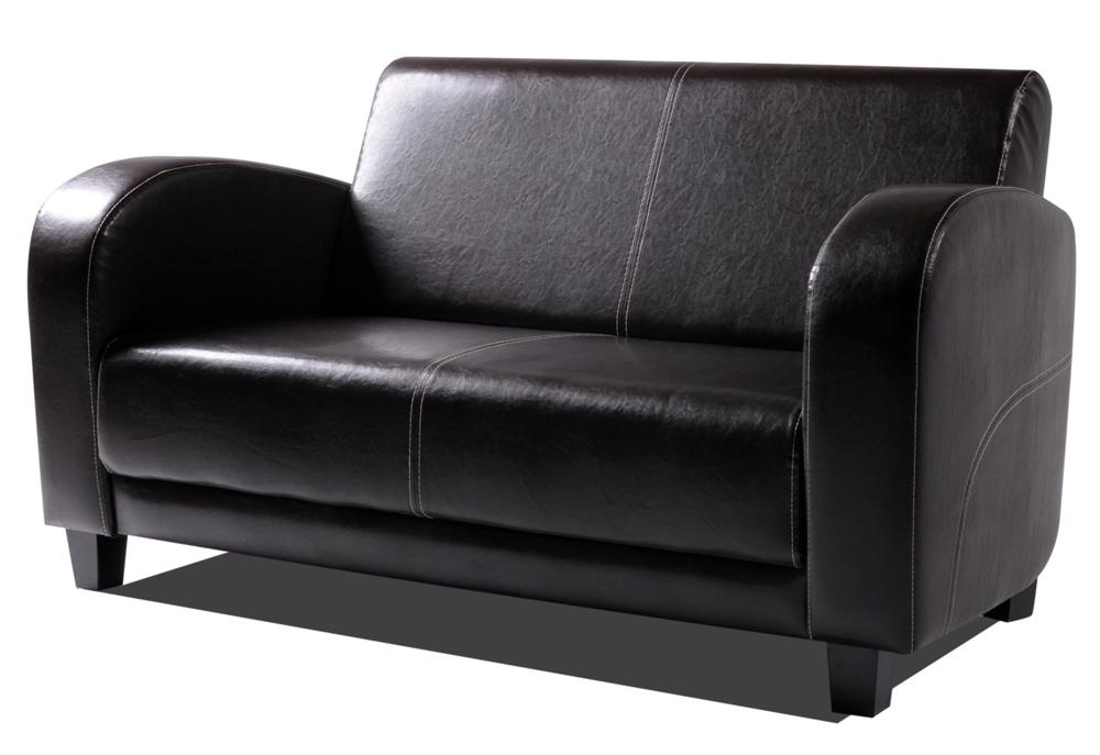 Möbel-Eins ANTON Sofa 2-Sitzer Antikbraun, Füsse nussbaumfarben