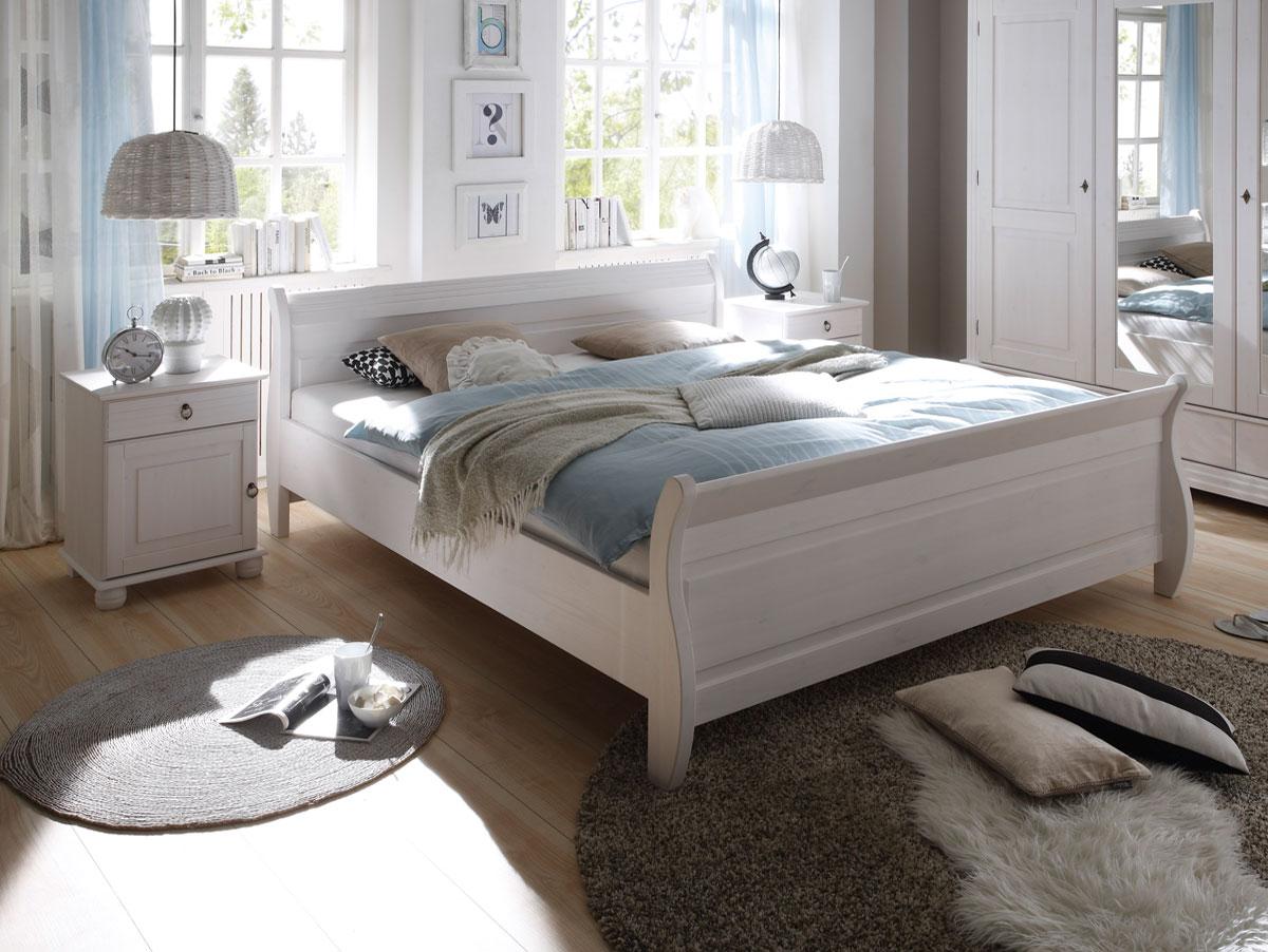 Oxford doppelbett 180x200 cm kiefer wei for Betten sofort lieferbar