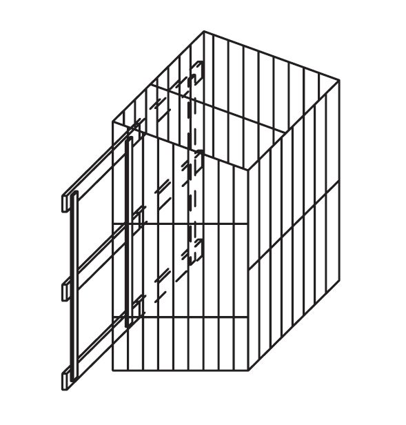 Wäschekorb ausziehbar, inkl. Auszug B30 H55 T50 select