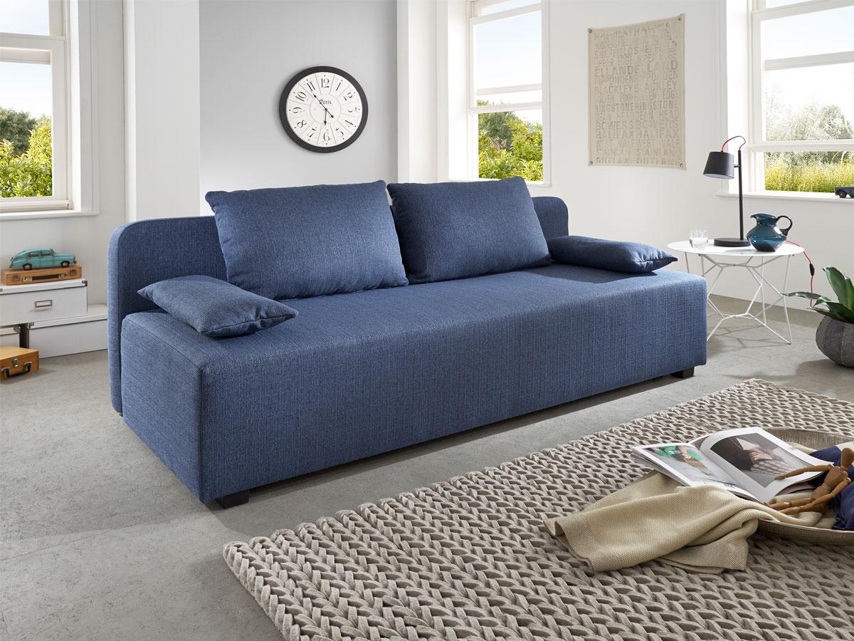 ray schlafsofa blau meliert. Black Bedroom Furniture Sets. Home Design Ideas