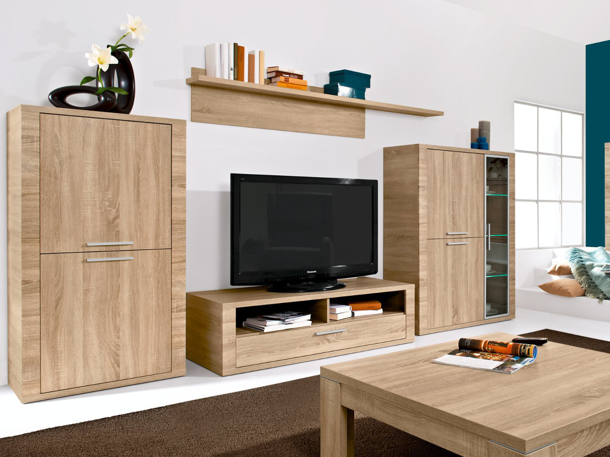 wohnw nde aus eiche sch ne m bel online kaufen. Black Bedroom Furniture Sets. Home Design Ideas