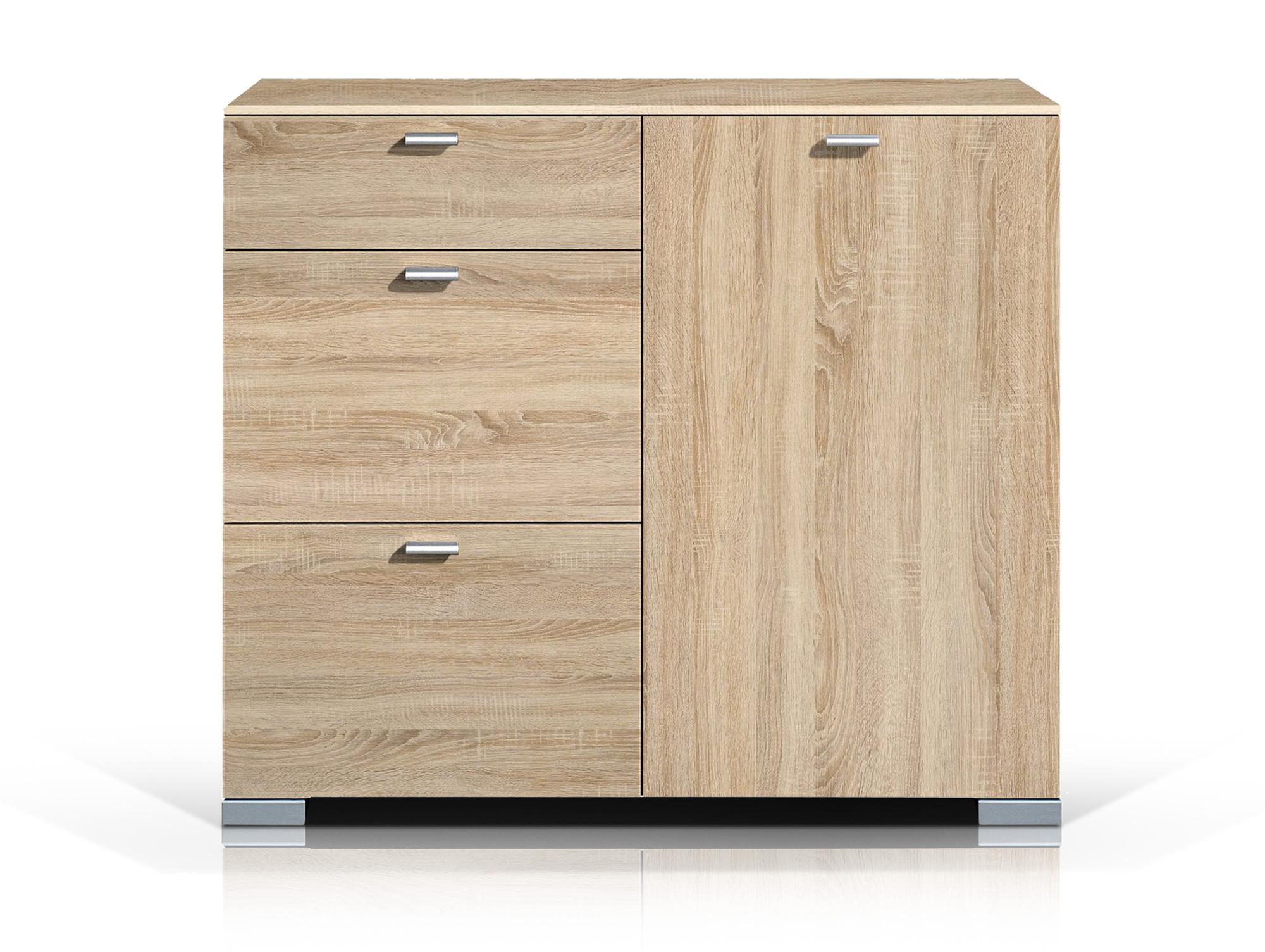 arte m gallery kommode stauraumelement 1 t r und 3 schubk sten eiche. Black Bedroom Furniture Sets. Home Design Ideas