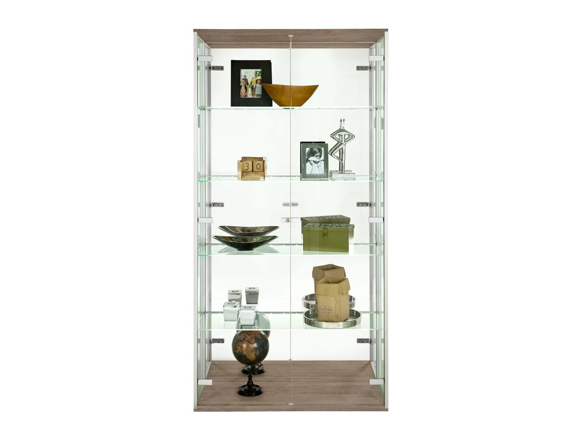 arte m vision vitrine 2 tuerig klarglas eiche 1059 b2b trade. Black Bedroom Furniture Sets. Home Design Ideas