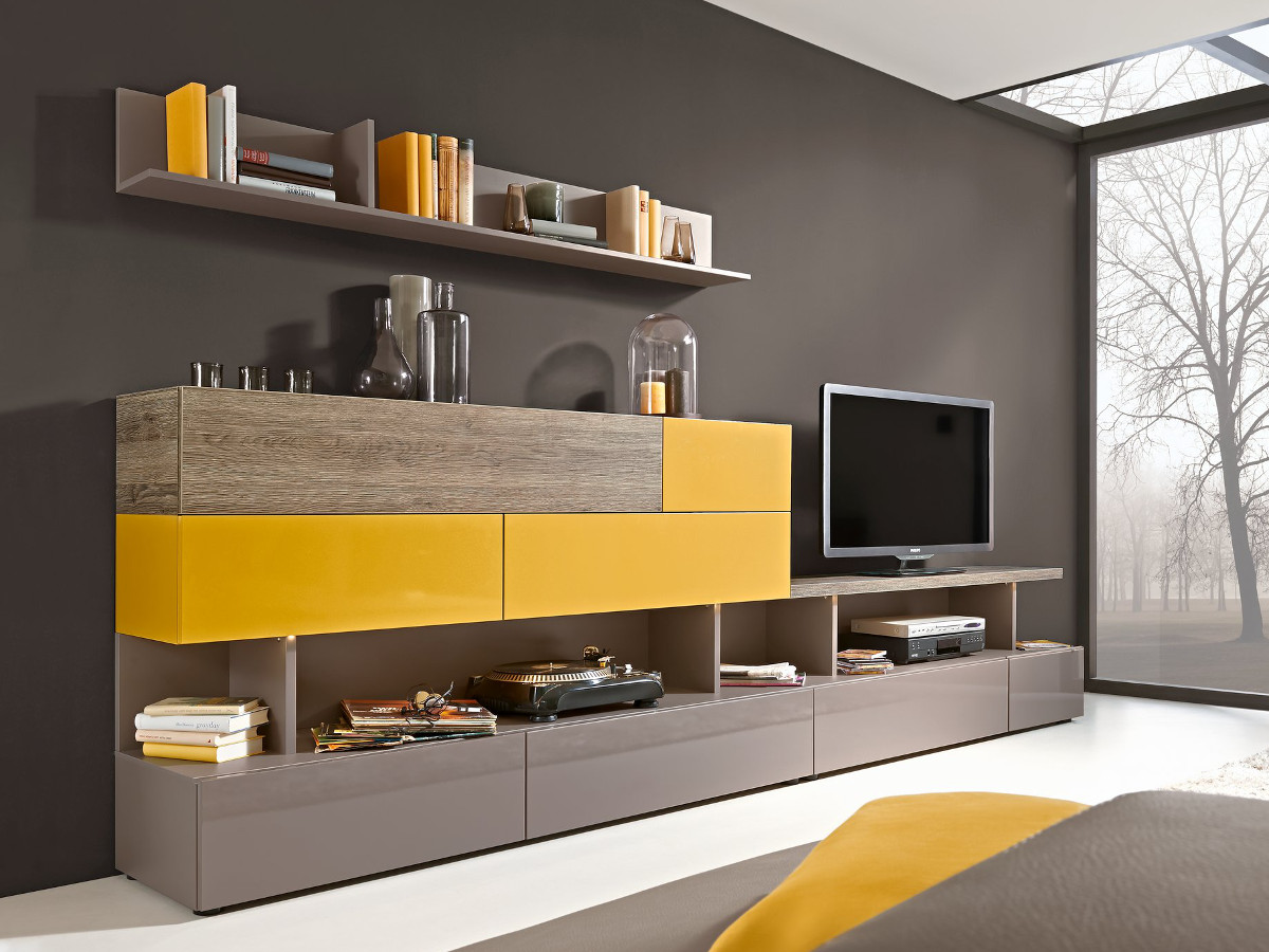 arte m beam w wohnwand i cubanit curry eiche dunkel g nstig kaufen sch ne. Black Bedroom Furniture Sets. Home Design Ideas