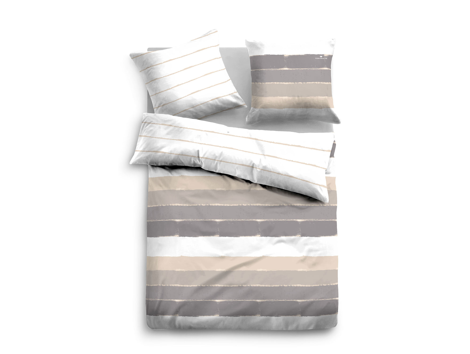 tom tailor bettw sche satin bed linen 135x200 80x80 cm. Black Bedroom Furniture Sets. Home Design Ideas