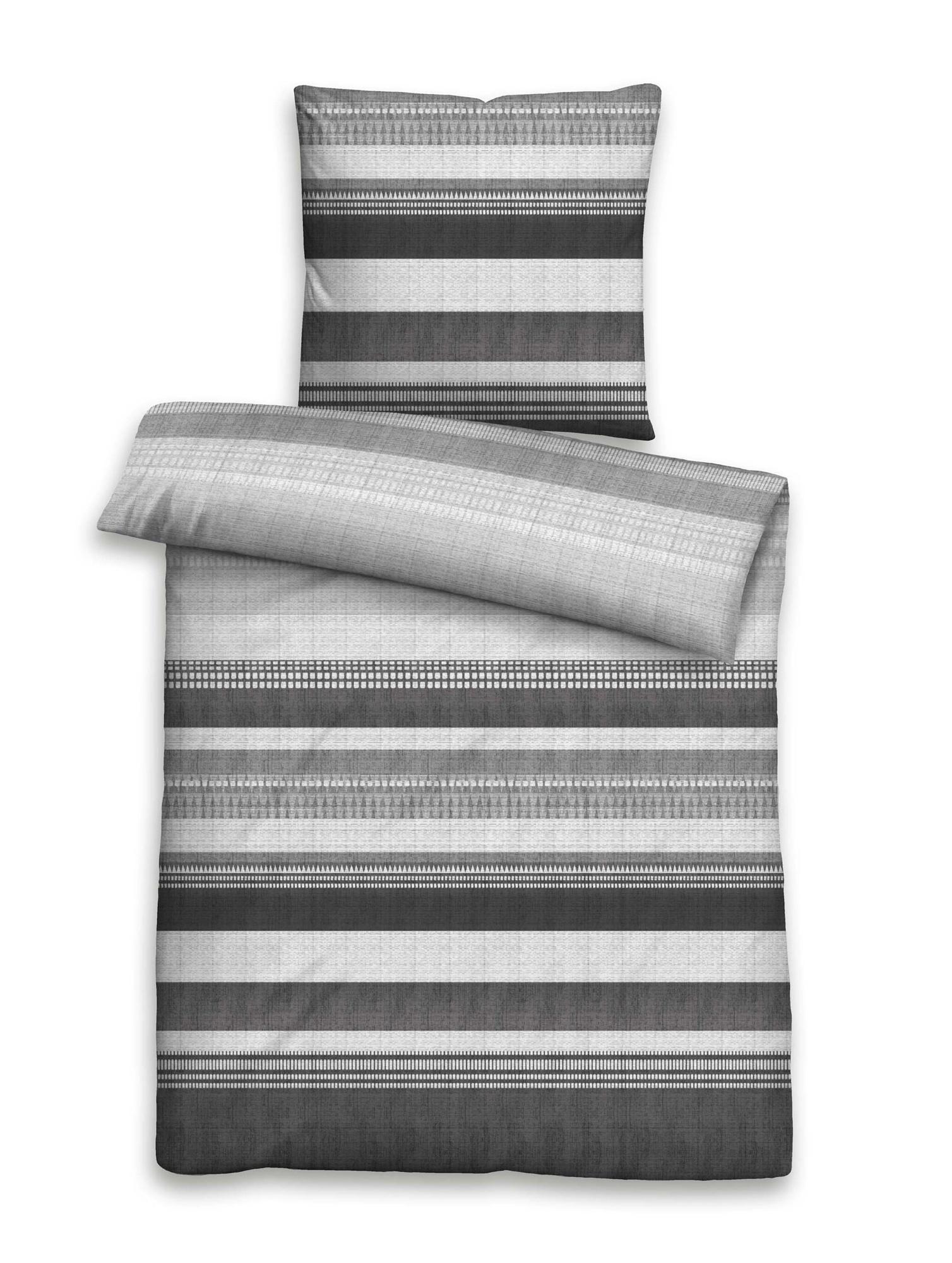 biberna mako baumwoll satinbettw sche 135x200 80x80 titanium. Black Bedroom Furniture Sets. Home Design Ideas