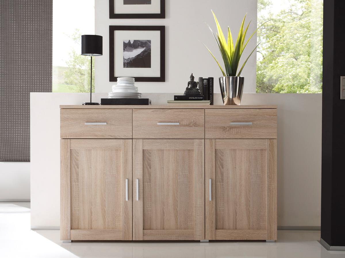 sideboard sonoma eiche g nstig kaufen. Black Bedroom Furniture Sets. Home Design Ideas