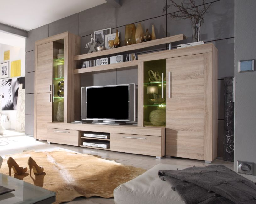 benni wohnwand online g nstig bestellen. Black Bedroom Furniture Sets. Home Design Ideas