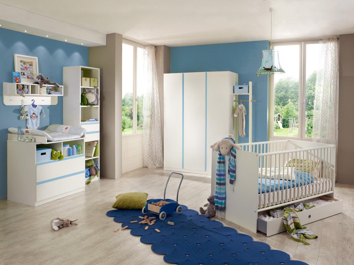 becca komplett babyzimmer weiss iceblau. Black Bedroom Furniture Sets. Home Design Ideas