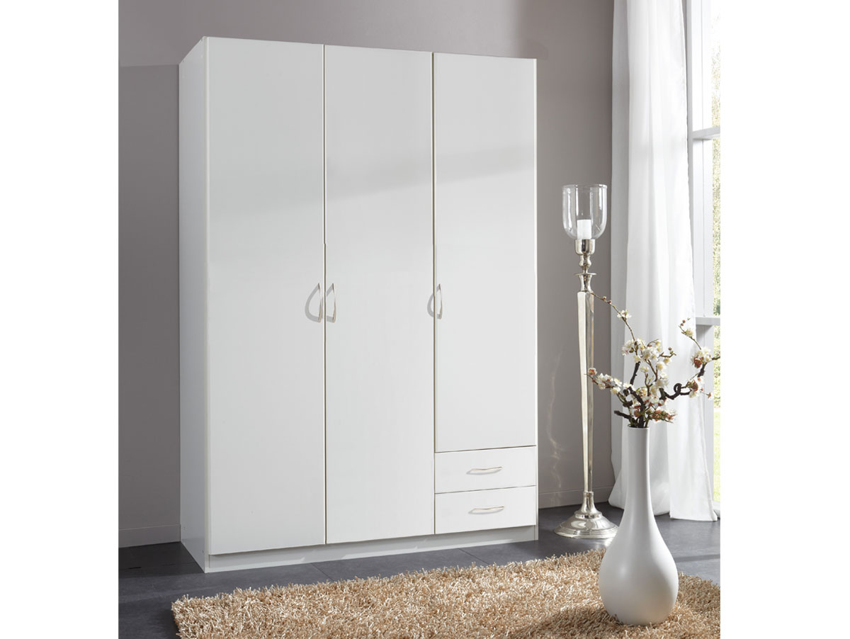 swing kleiderschrank 3 t rig weiss 175 cm. Black Bedroom Furniture Sets. Home Design Ideas