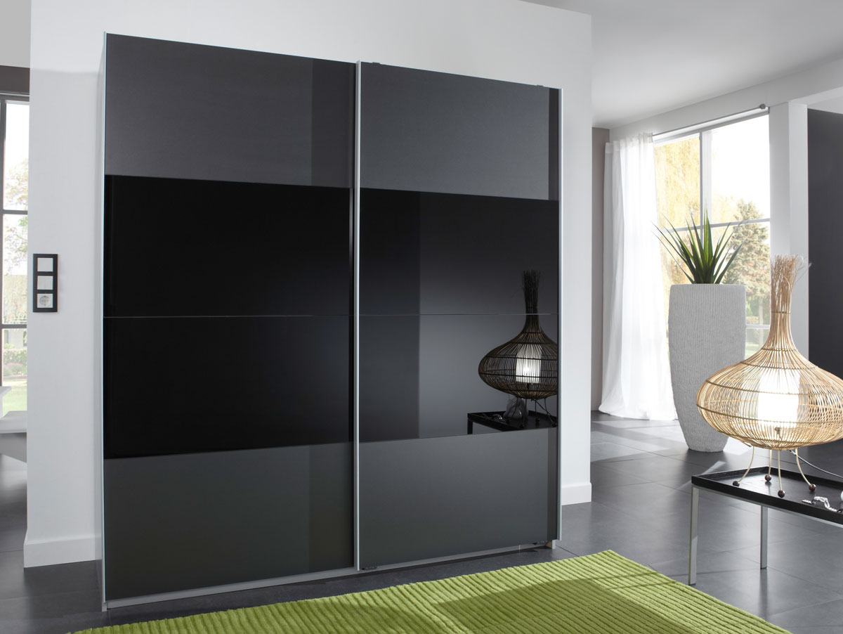 elmiro schwebet renschrank b179 anthrazit schwarz alu. Black Bedroom Furniture Sets. Home Design Ideas