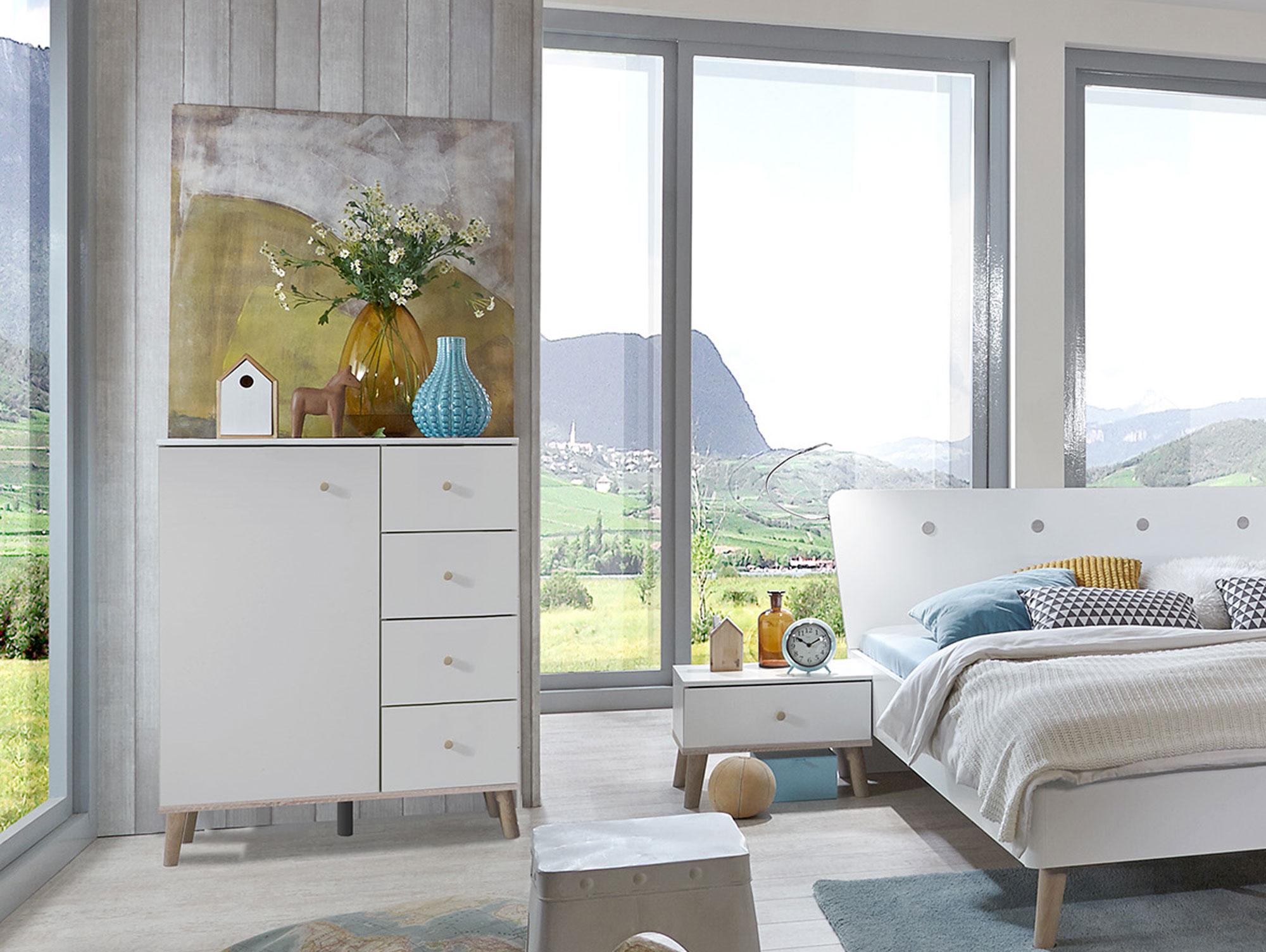 batida kommode weiss eiche s gerau dekor. Black Bedroom Furniture Sets. Home Design Ideas