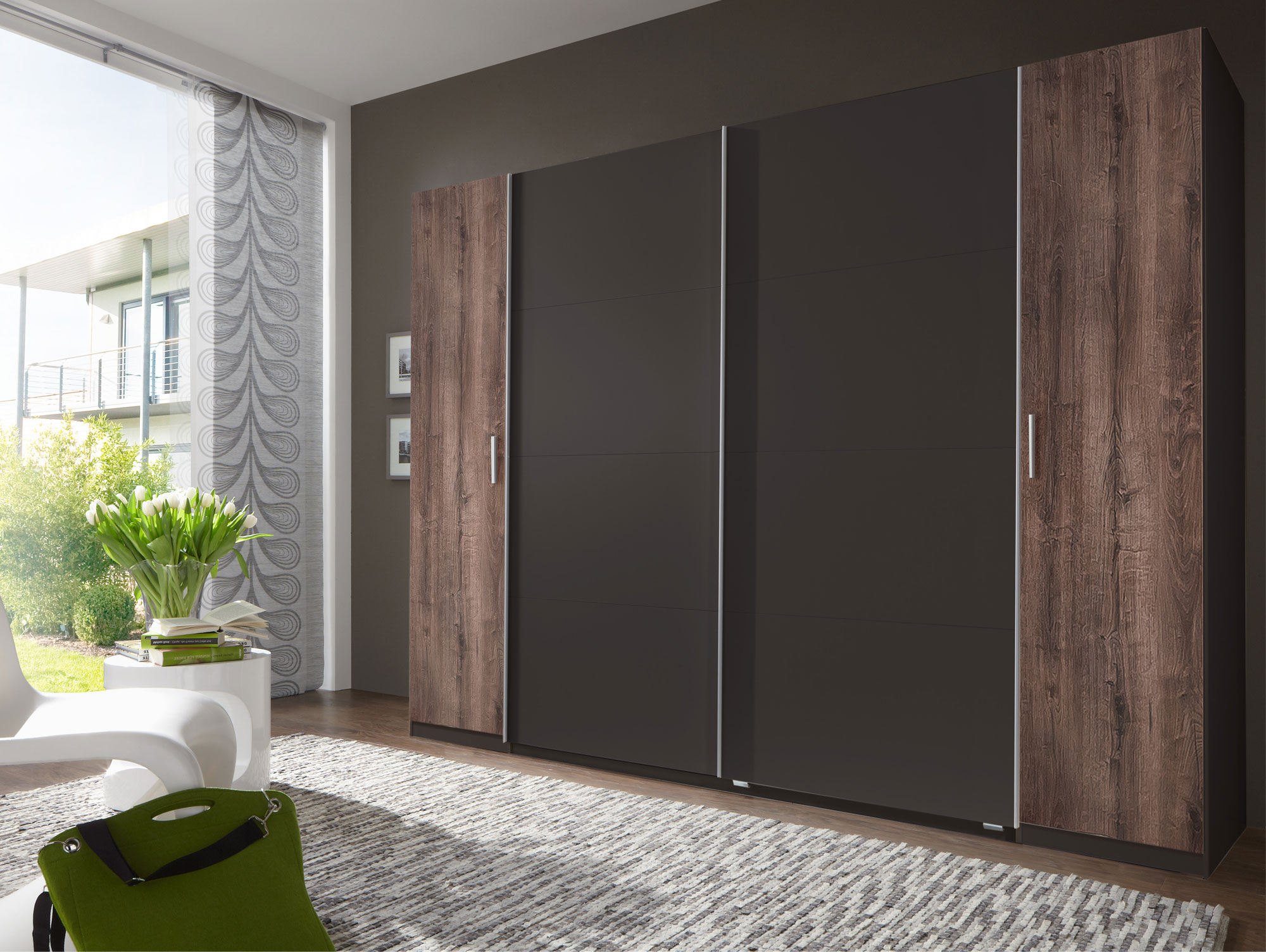 lord dreh schwebet renschrank 270 cm lavafarbig schlammeiche. Black Bedroom Furniture Sets. Home Design Ideas
