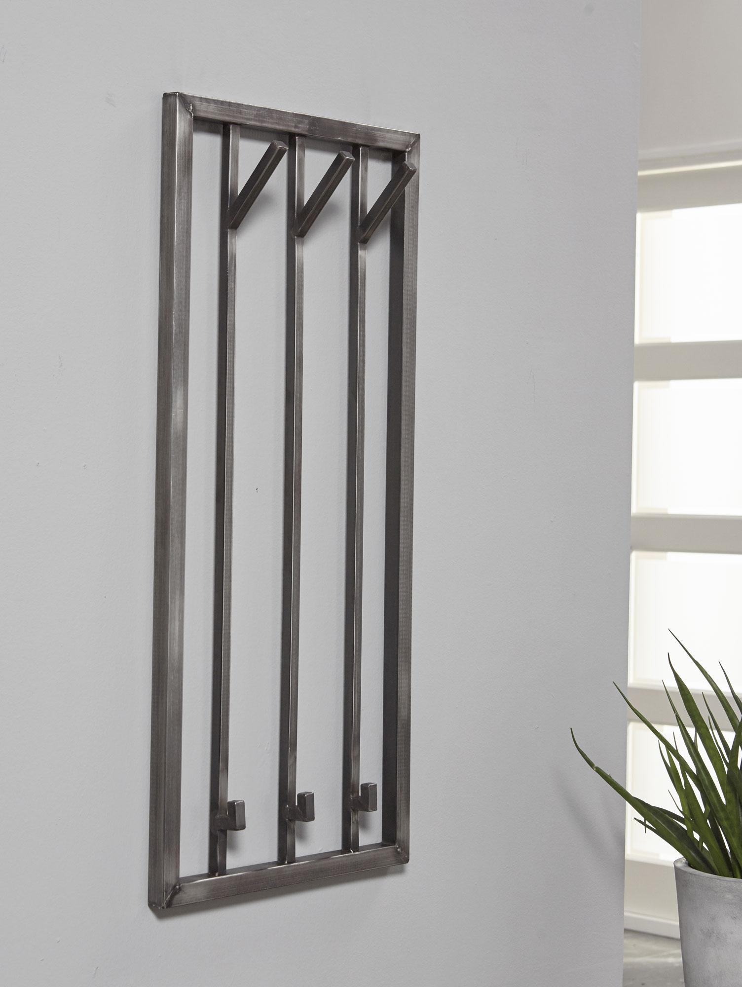 rode wandgarderobe edelstahl 39 5 cm 3 haken. Black Bedroom Furniture Sets. Home Design Ideas