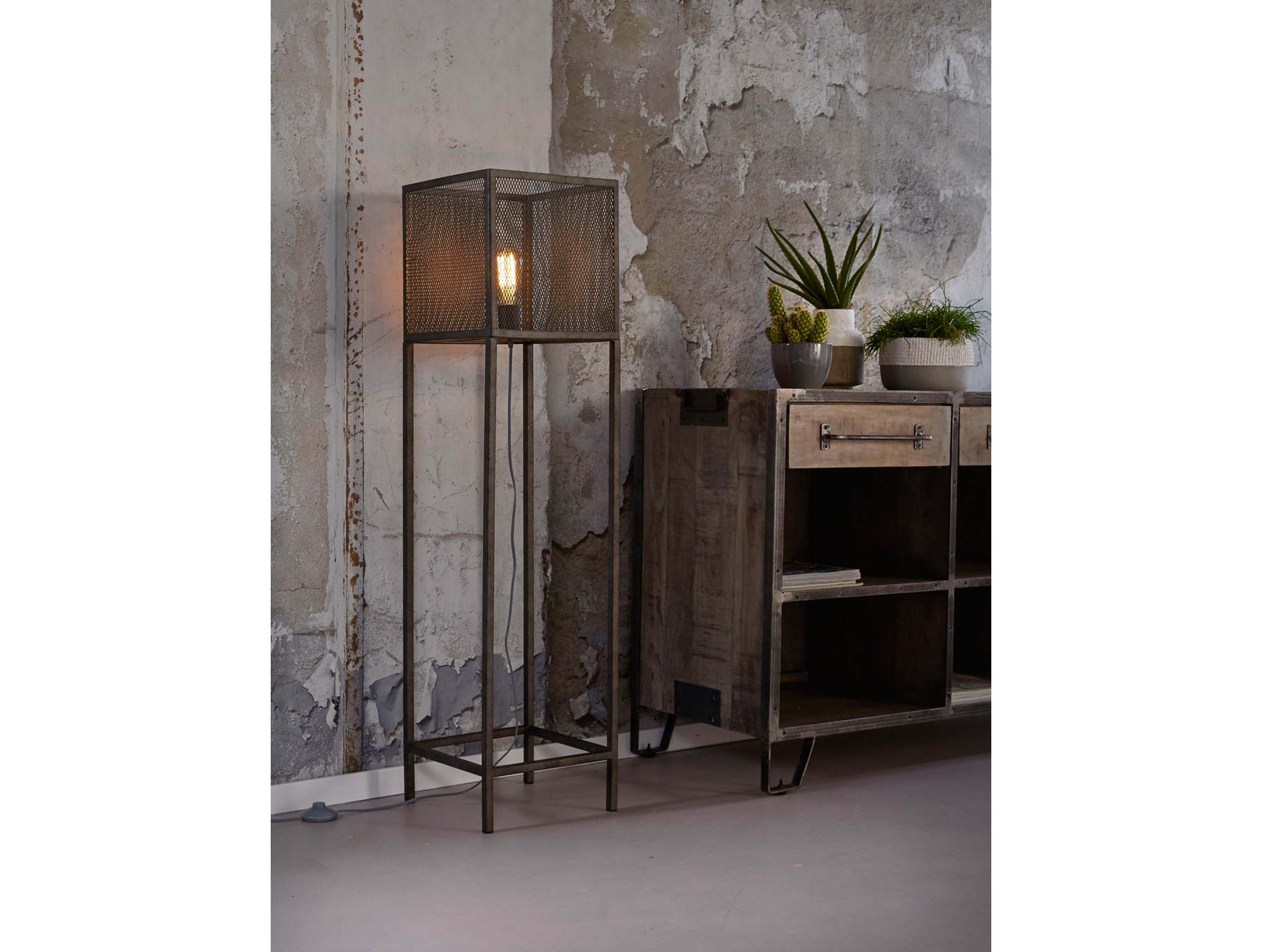 stehlampe metall relaxdays stehlampe gelenk galando vintage design hxbxt x x cm stehlampe. Black Bedroom Furniture Sets. Home Design Ideas
