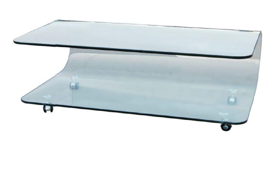 gloria couchtisch klares glas gebogen. Black Bedroom Furniture Sets. Home Design Ideas