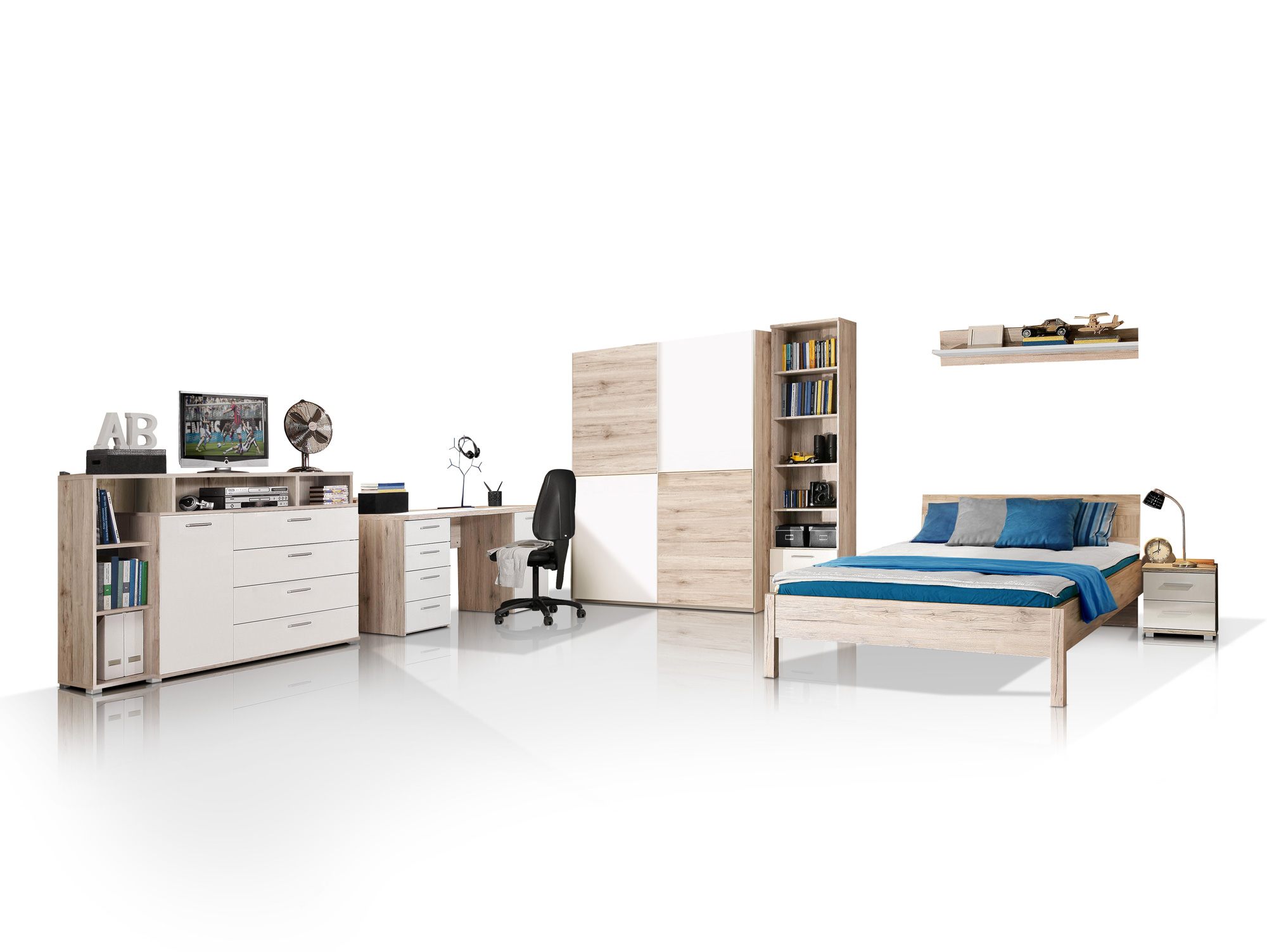 jugendbett weiss g nstig kaufen. Black Bedroom Furniture Sets. Home Design Ideas