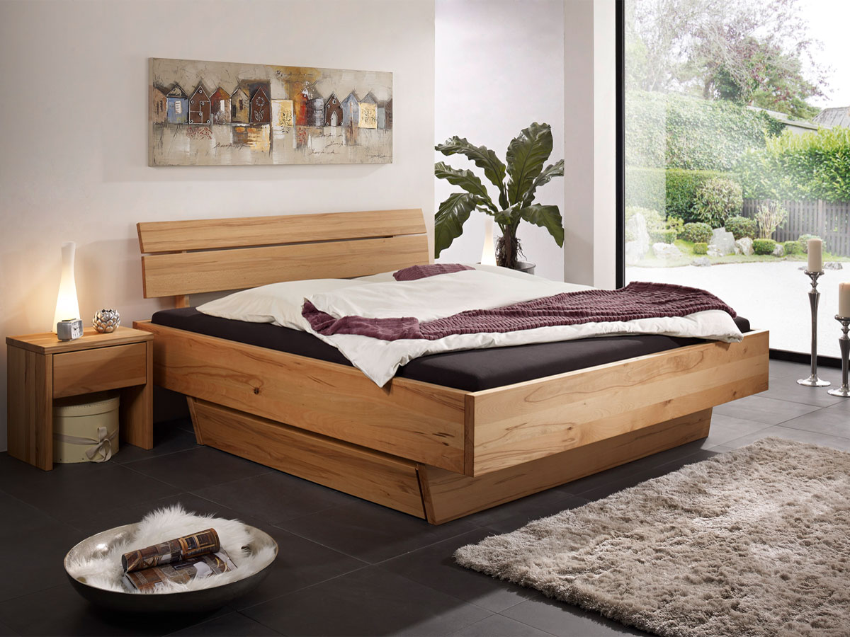 oskar i massivholzbett 180x200 cm kernbuche. Black Bedroom Furniture Sets. Home Design Ideas