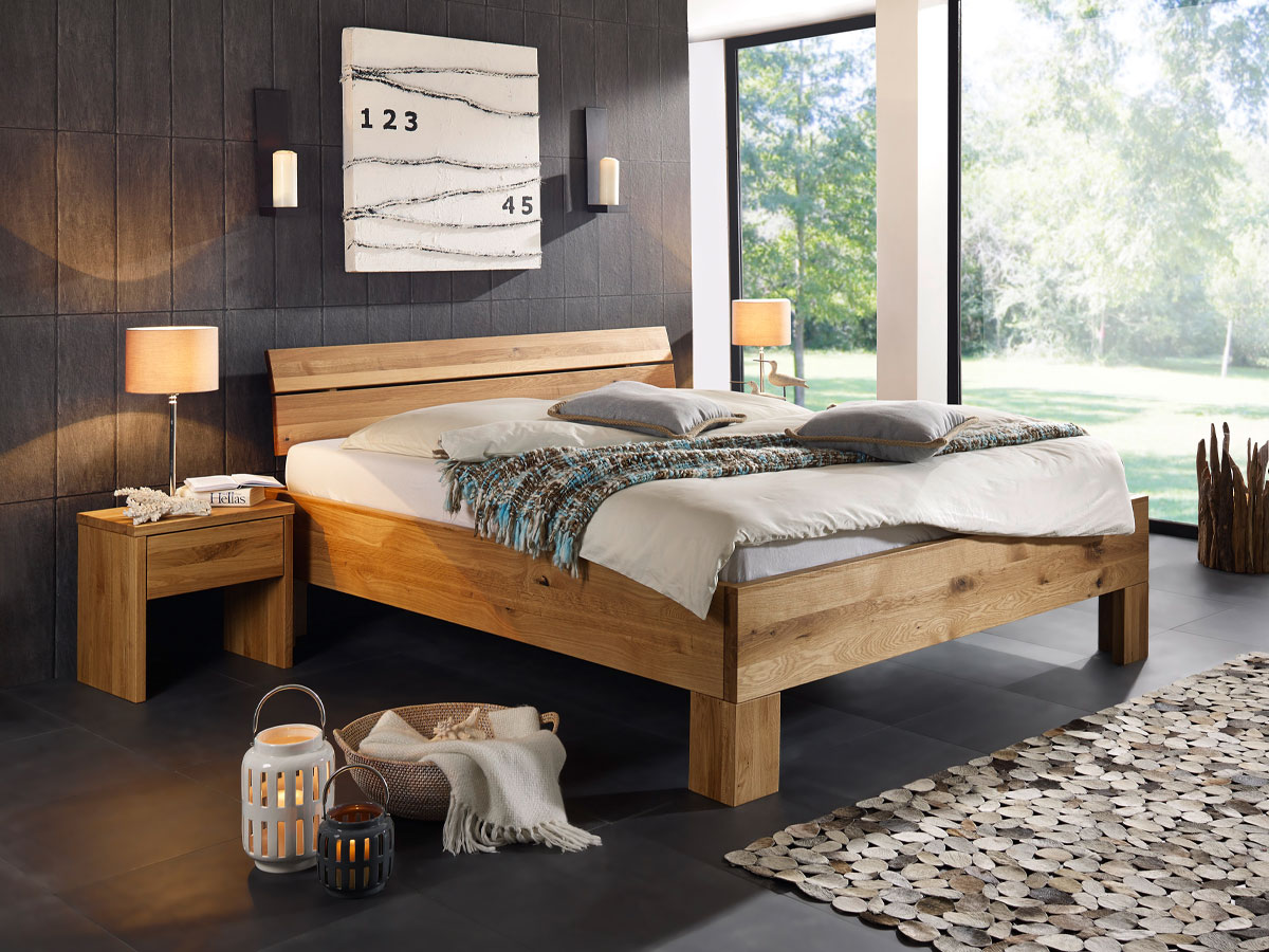 oskar ii massivholzbett 180x200 cm wildeiche. Black Bedroom Furniture Sets. Home Design Ideas