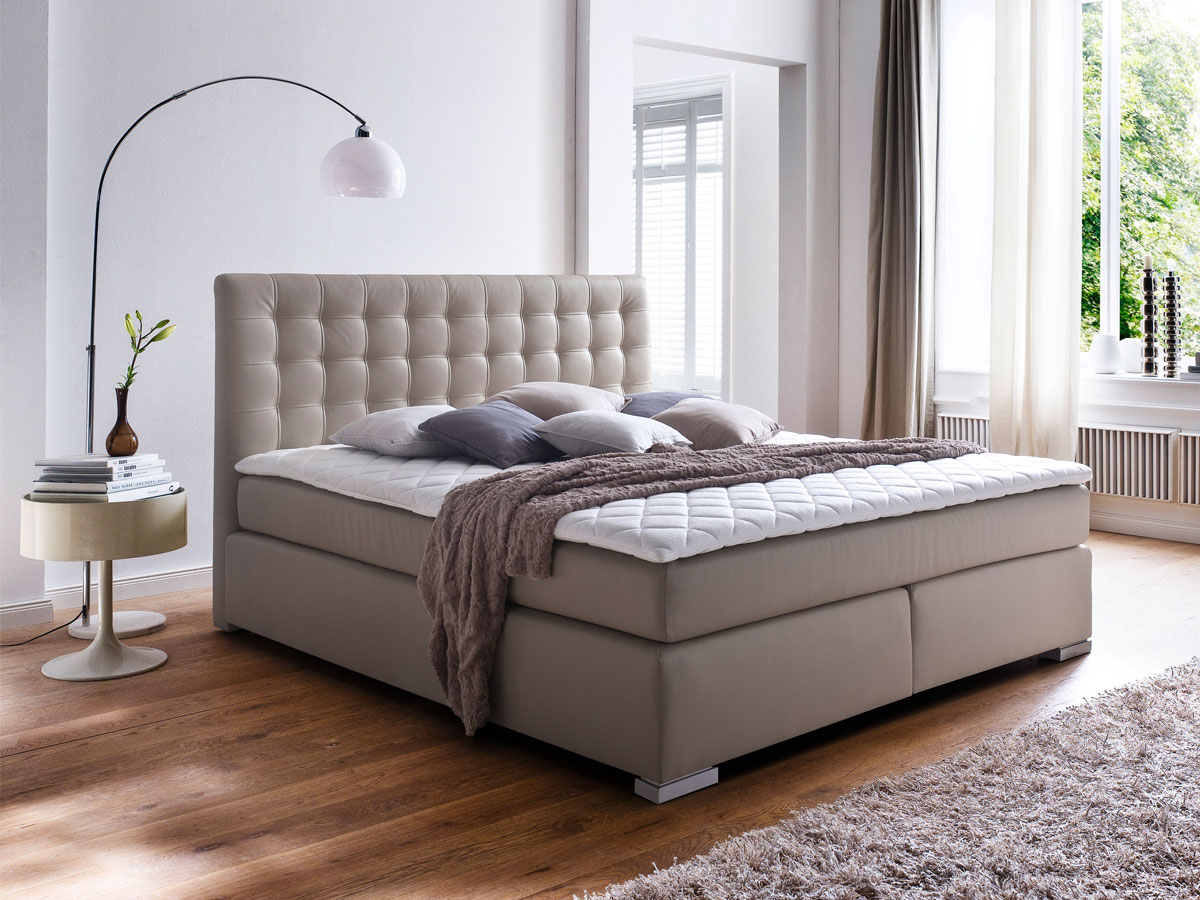 isabell boxspringbett 160 x 200 cm muddy h rtegrad 3. Black Bedroom Furniture Sets. Home Design Ideas