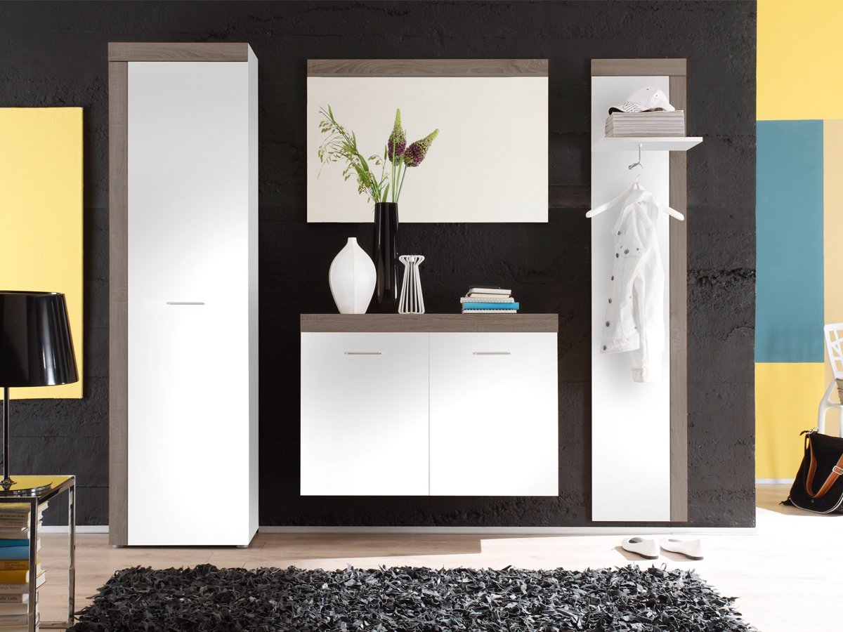 landhaus garderobe weiss matilda g nstig kaufen. Black Bedroom Furniture Sets. Home Design Ideas