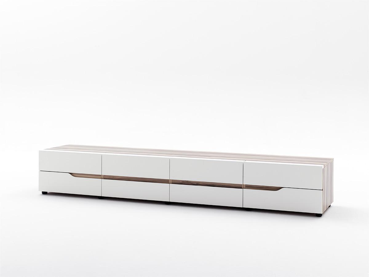 lowboard h ngend wei matt interessante. Black Bedroom Furniture Sets. Home Design Ideas