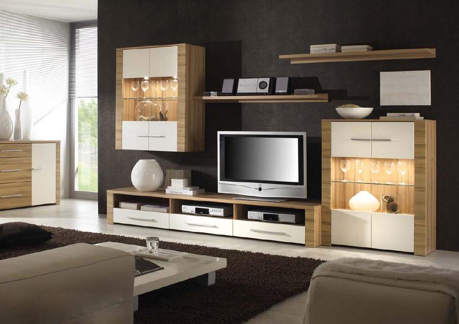 wohnwand echtholz wei neuesten design. Black Bedroom Furniture Sets. Home Design Ideas