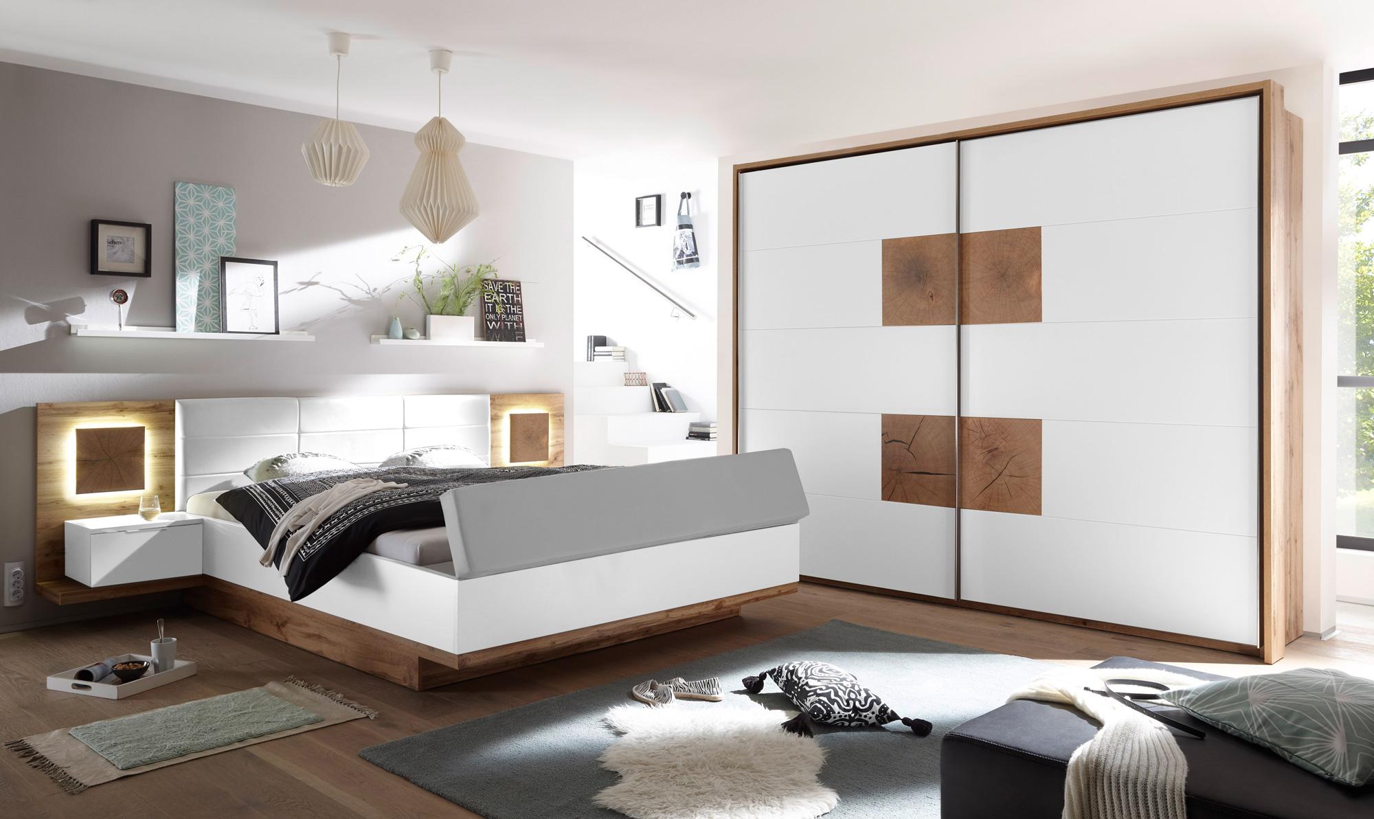 cameron ii schlafzimmer mit betttruhe wildeiche weiss. Black Bedroom Furniture Sets. Home Design Ideas