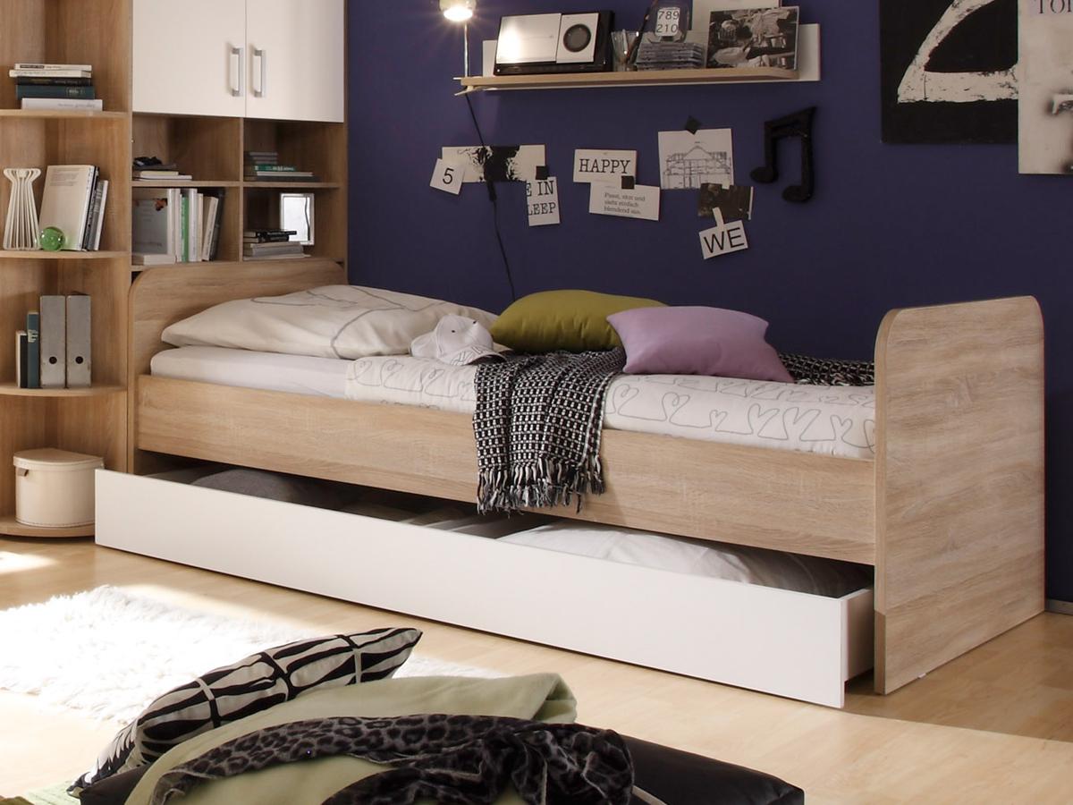 Cassian Bett 90x200 Cm Material Dekorspanplatte Eiche Sonomafarbig