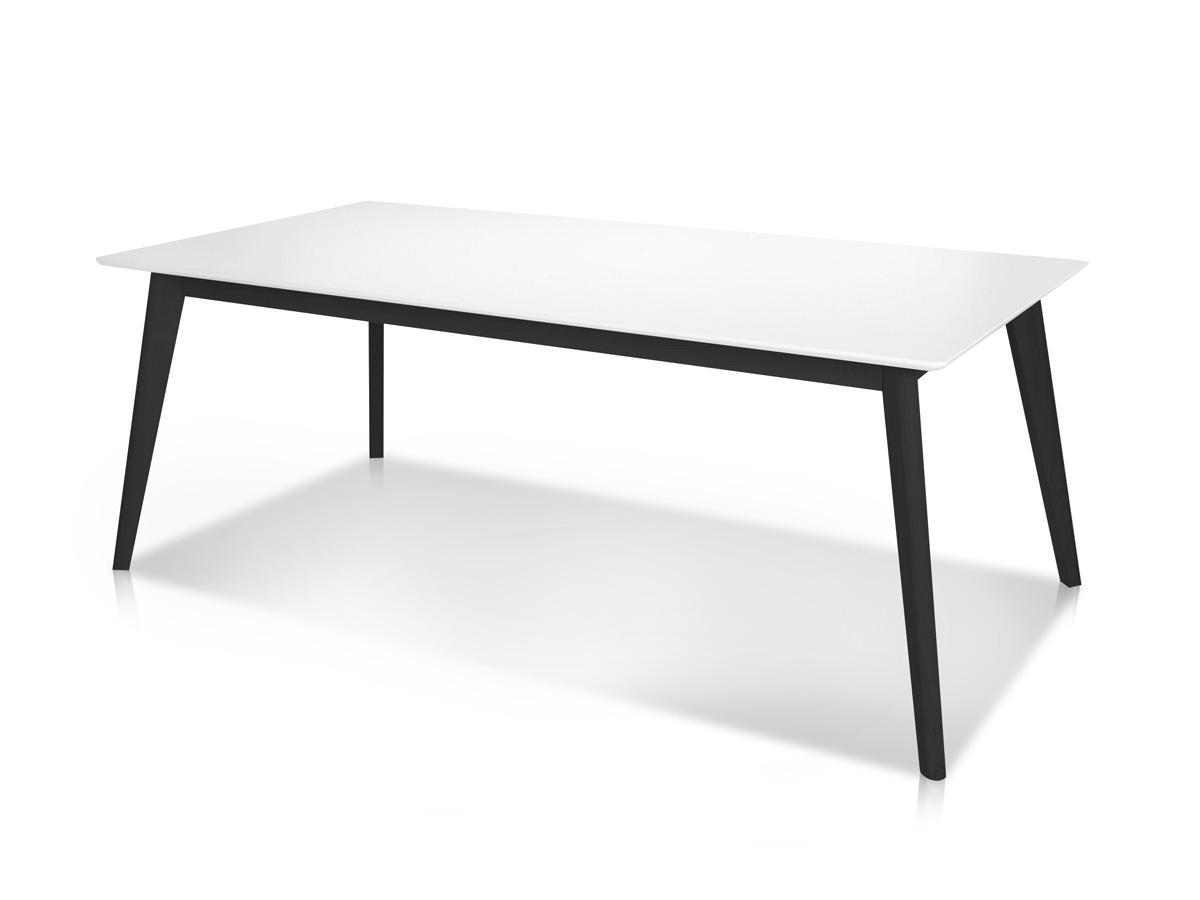 Cent esstisch 160 x 90 cm weiss schwarz for Esstisch schwarz