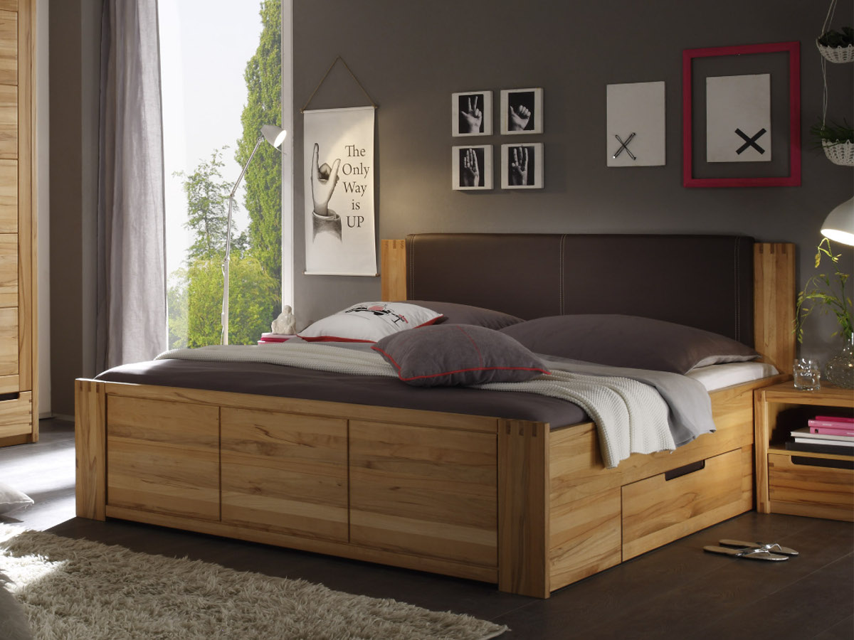 charles doppelbett 180x200 kernbuche teilmassiv im internet g nstig bestellen. Black Bedroom Furniture Sets. Home Design Ideas