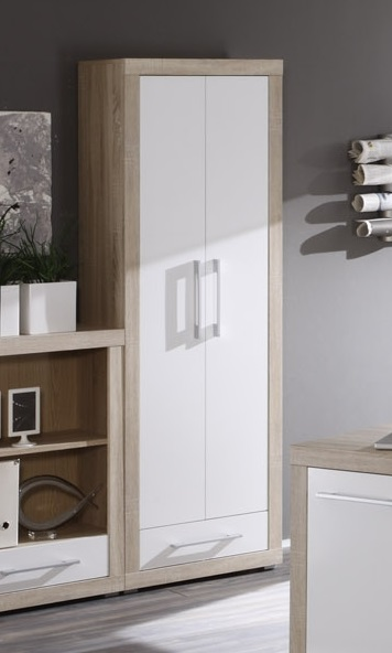 charon aktenschrank 2 t rig sonoma eiche weiss. Black Bedroom Furniture Sets. Home Design Ideas