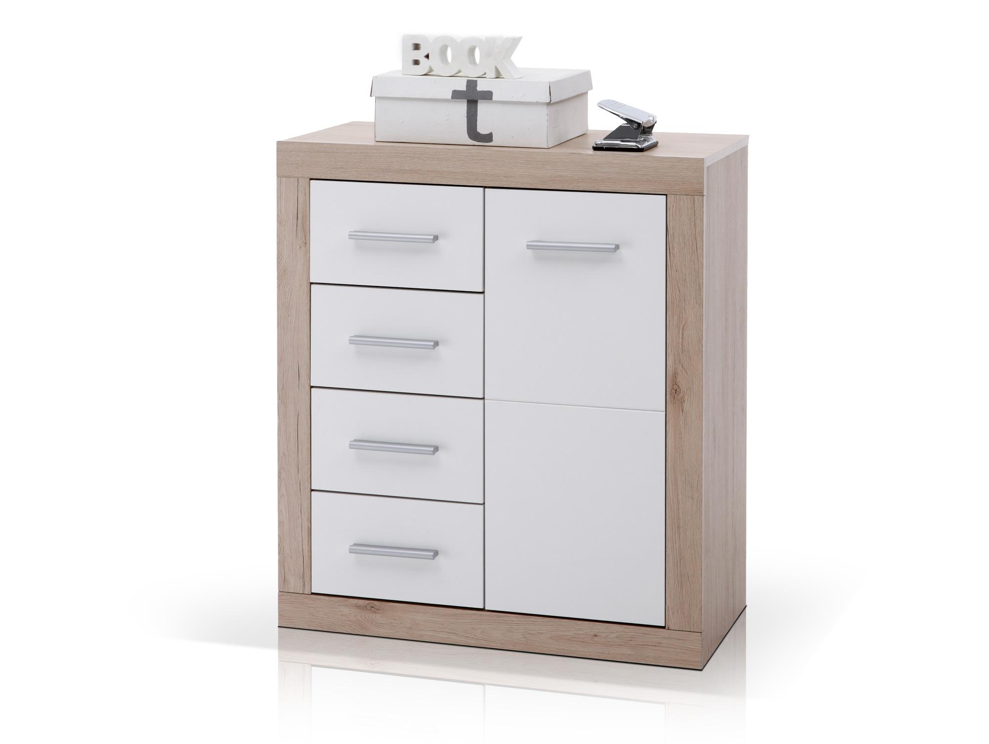 chester kommode b6 1 t r 4 sk san remo wei. Black Bedroom Furniture Sets. Home Design Ideas