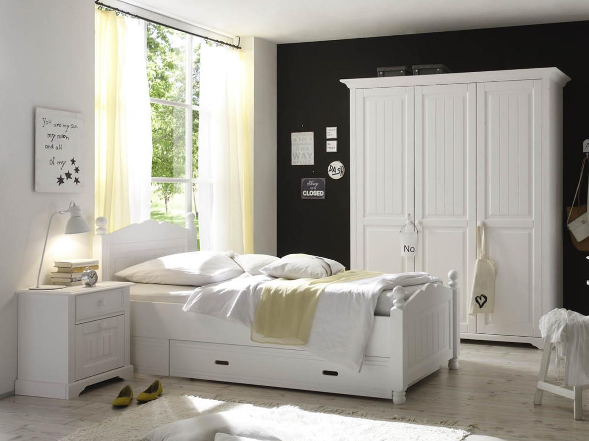 Jugendzimmer Massivholz Weiß : Cinderella Kinderzimmer Mit Hochbett Kiefer  Weiss B Trade
