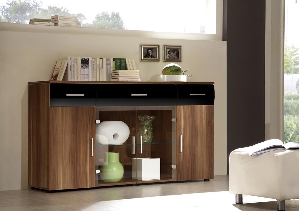 kommode schwarz hochglanz g nstig kaufen. Black Bedroom Furniture Sets. Home Design Ideas