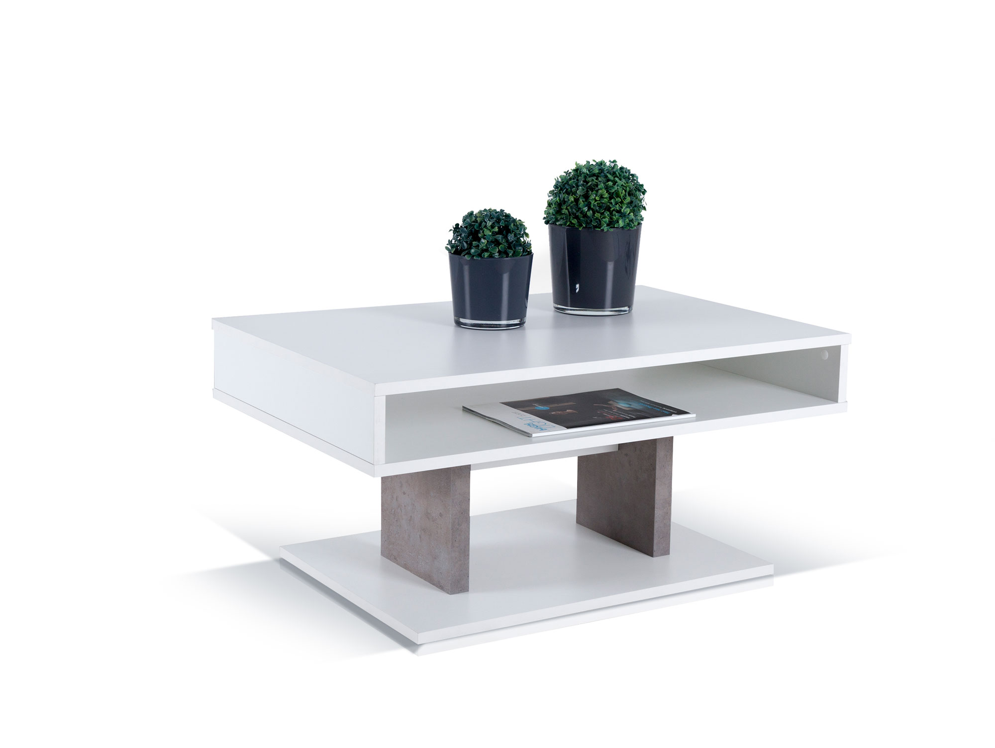 pisa couchtisch weiss matt beton. Black Bedroom Furniture Sets. Home Design Ideas