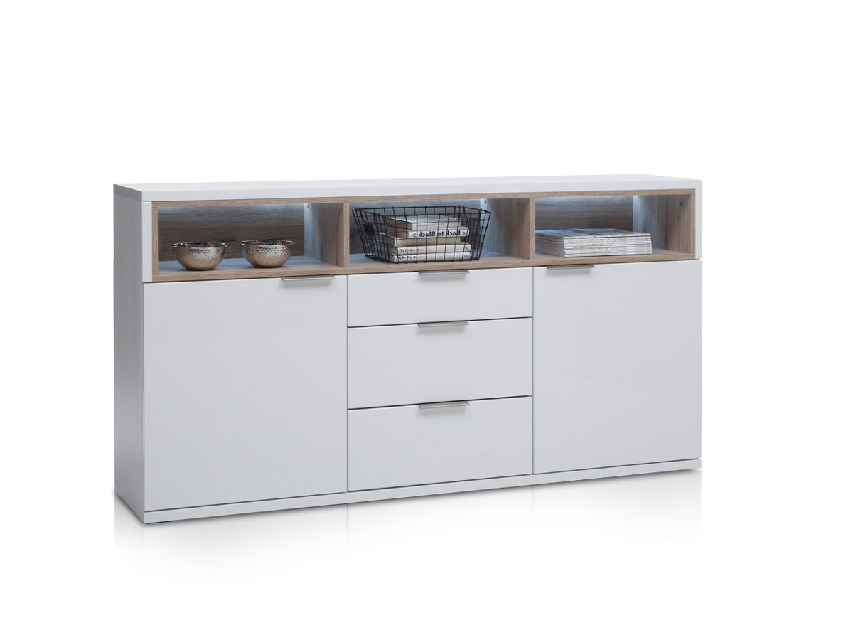 sideboard eiche weiss hochglanz g nstig kaufen. Black Bedroom Furniture Sets. Home Design Ideas